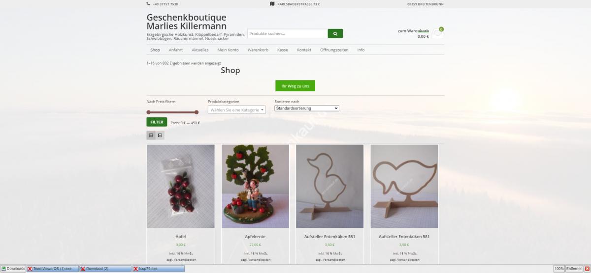 Geschenkboutique Marlies Killermann I Erzgebirgische Holzkunst, Klöppelbedarf, Pyramiden, Schwibbögen, Räuchermännel, Nussknacker I _ - erz-einkauf_de