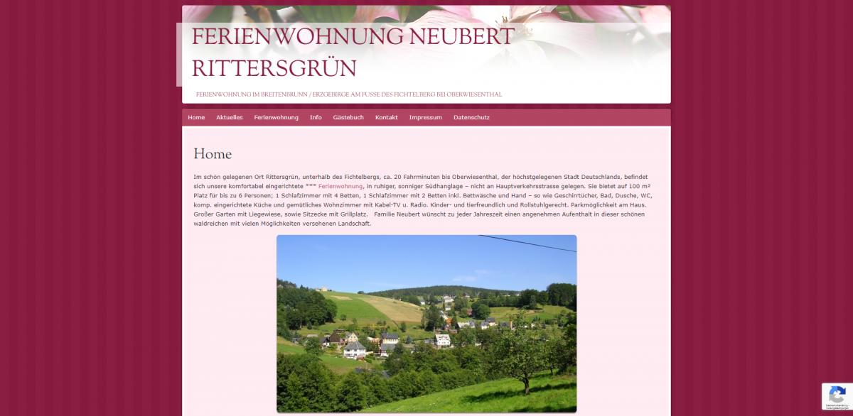 Home - Ferienwohnung Neubert Rittersgrün - Urlaub und Ferien im oberen Erzgebirge - ferienwohnung-neubert_de