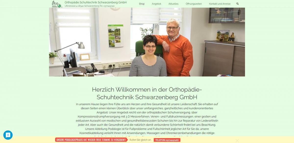 Orthopädie Schuhtechnik Schwarzenberg GmbH Tel 0377415740 - ost-szb_de