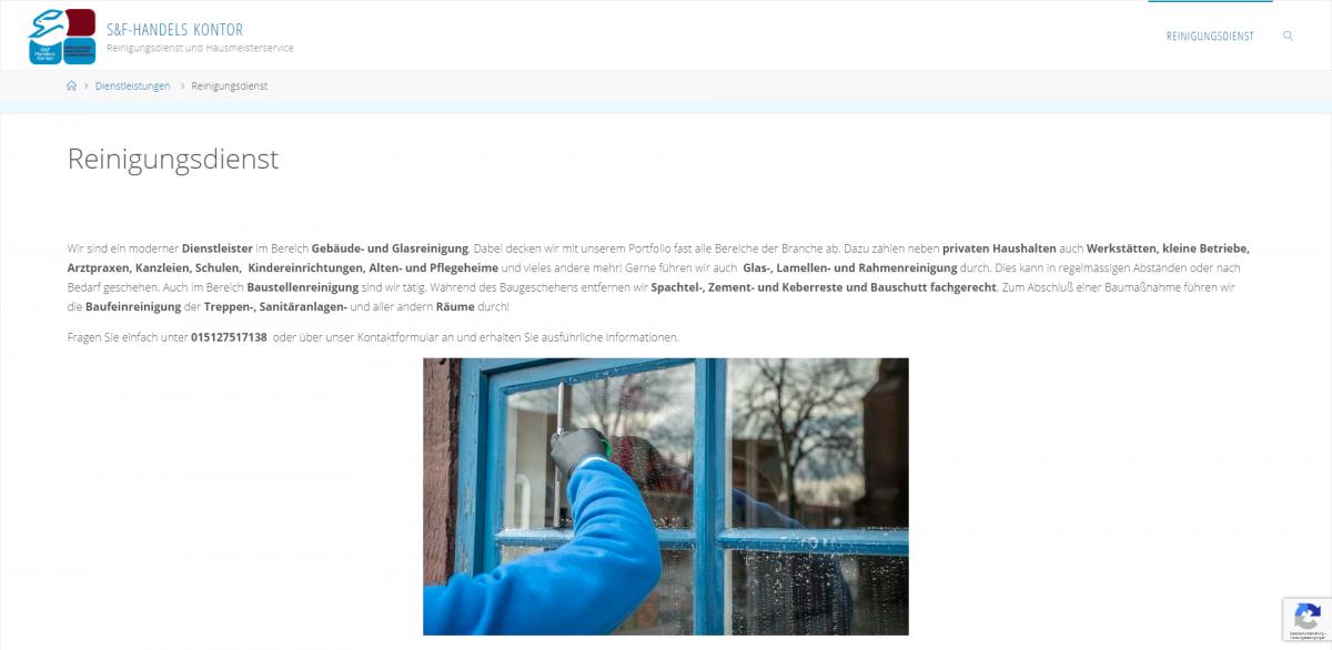 Reinigungsdienst - S&F-Handels Kontor - sf-handels-kontor_de_reinigungsdienst